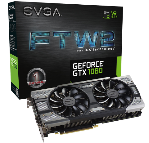 VGA EVGA GeForce GTX1080 FTW2 GAMING 8GB GDDR5X