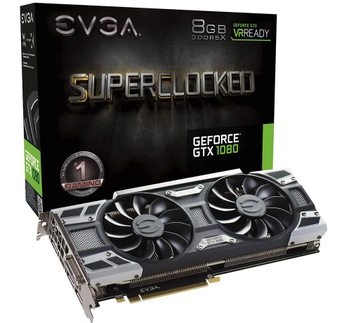 VGA EVGA GeForce GTX1080 SC GAMING 8GB GDDR5X