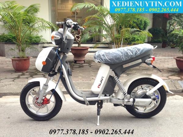 Xe đạp điện Nijia 2016 mầu trắng