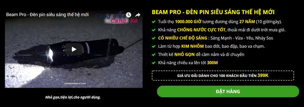 Hình ảnh: quảng cáo về đèn pin siêu sáng với nhiều tính năng nhưng có giá rất rẻ