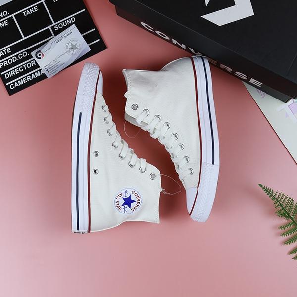 Converse classic cao cổ vải trắng