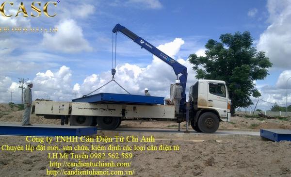 Cân xe tải chìm 80 tấn 3m x 18m