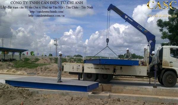 Lắp đặt trạm cân chìm 80 tấn 3m x 18m tại nhà máy Sorbitol Tân Hội Tân Châu Tây Ninh