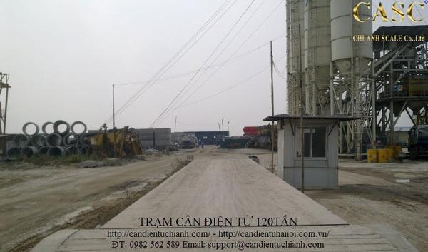 Lắp đặt trạm cân xe tải 120 tấn tại công ty CGCD Hải Dương