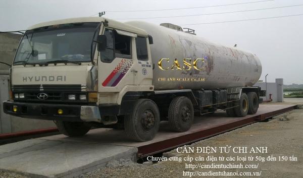 lắp đặt trạm cân 80 tấn tại nhà máy GAS An Phú Bắc Ninh