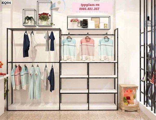 thiết kế giá treo shop thời trang đẹp mắt