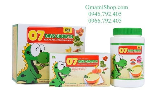 Bột ăn dặm 7Days Growth Health Pro