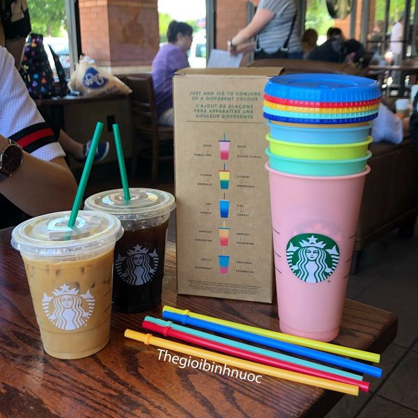 Ly nhựa đổi màu STARBUCKS The Reusable Color Changing Cold Cups