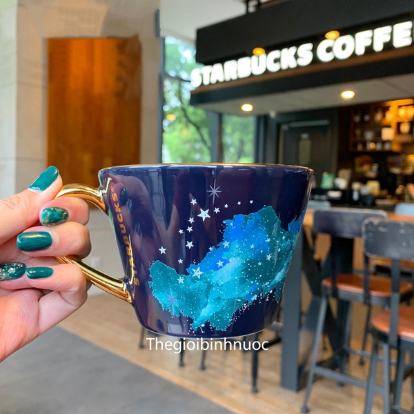 Starbuck Cup 2020 Valentine's day Summer Night Starry Blue