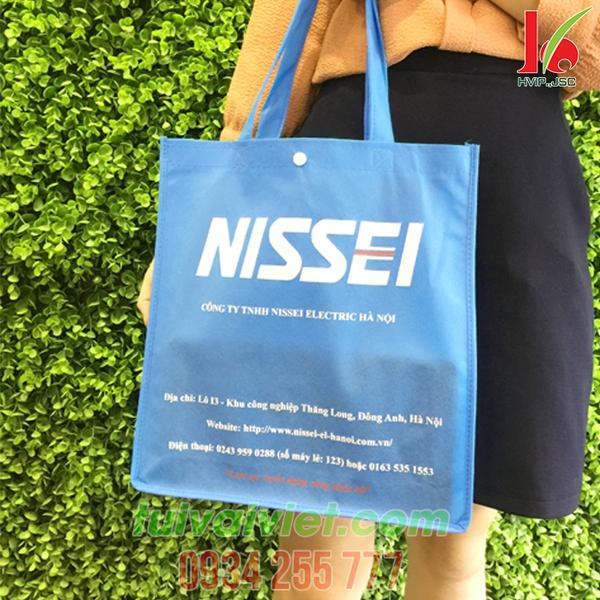 Túi vải may gia công có cúc bấm Nissei TVV006
