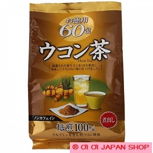 ORIHIRO Turmeric Tea Ukon Cha Non-caffeine 60 Pack for health care from Japan