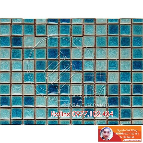 Gạch Mosaic màu xanh dương