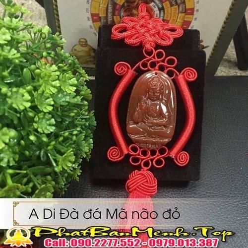Phật bản mệnh treo xe ô tô đá tự nhiên 100%  giá chỉ từ 300k