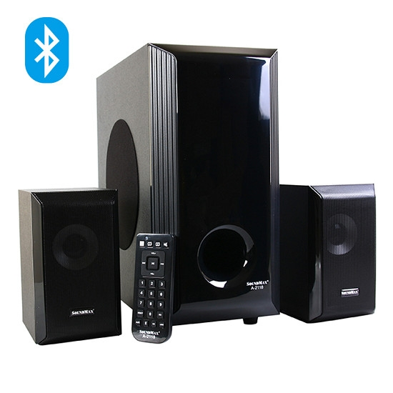 Loa Sound MAX A2118/ 2.1/ 60W/USB/Thẻ/ BT/Remote