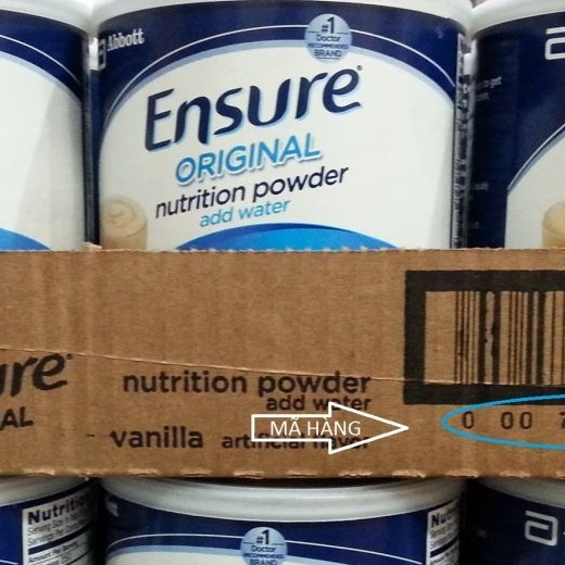 Sữa bột ensure original nutrition powder 397g (1t/6 hộp)