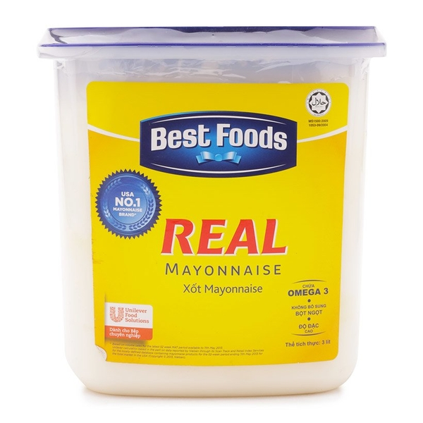 Xốt Mayonnaise Best Foods Real hộp 3kg