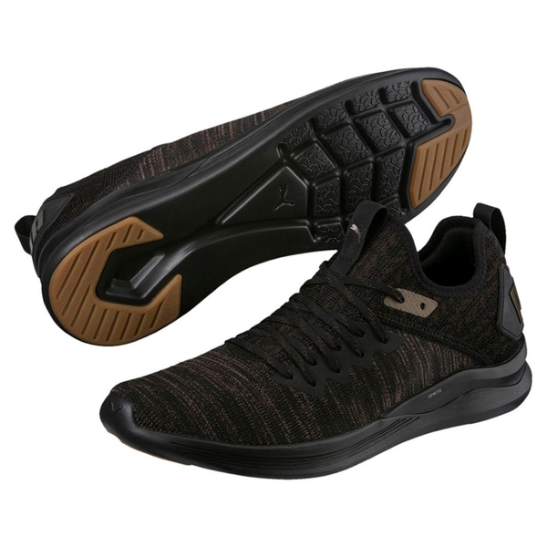 Giày Puma Ignite Flash EvoKNIT Desert (Đen)