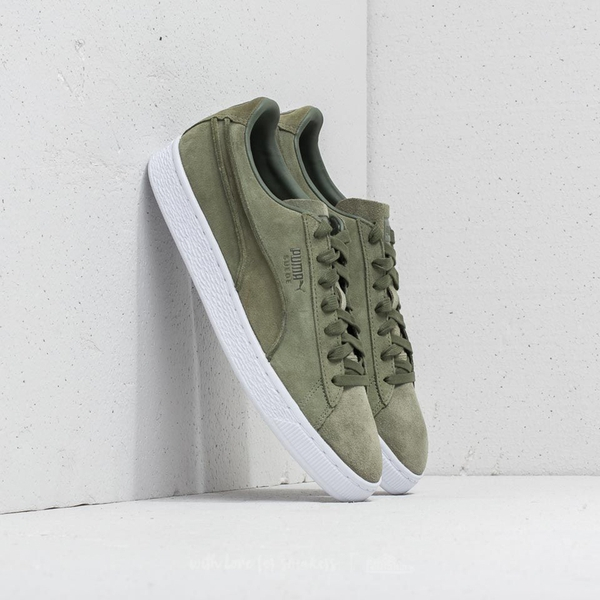 Giày PUMA Suede Classic Exposed Seams (Xanh Ô liu)