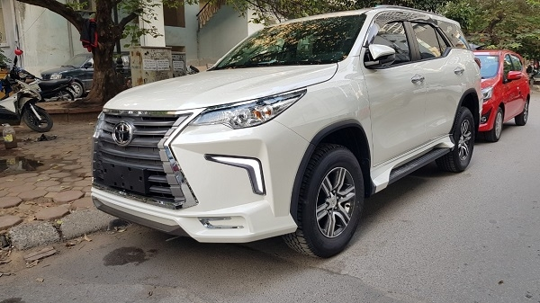 toyota fortuner 2019 độ body kit lexus lx570