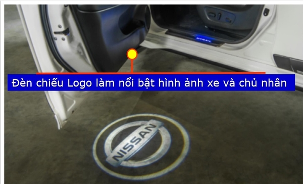 Đèn chiếu Logo Nissan trên Xtrail Vseries
