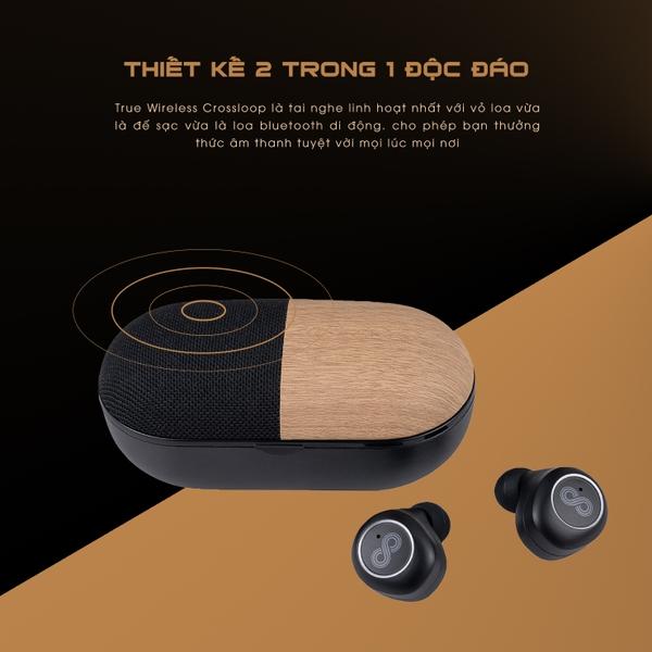 Tai nghe Earbuds tích hợp loa ngoài True Wireless Crossloop