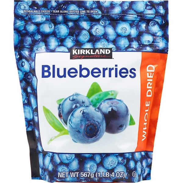 Việt quất sấy khô Kirkland Signature Whole Dried Blueberries 567g
