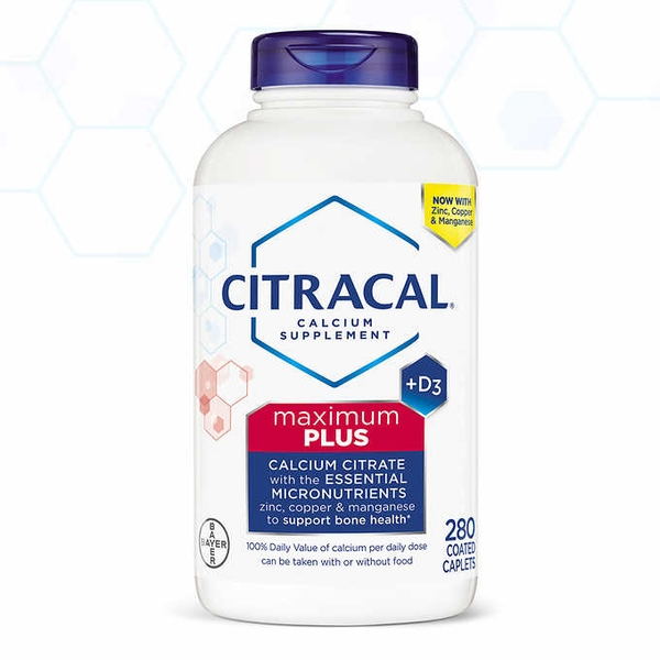 Citracal Maximum Plus Calcium Citrate + D3 - loại 280 viên