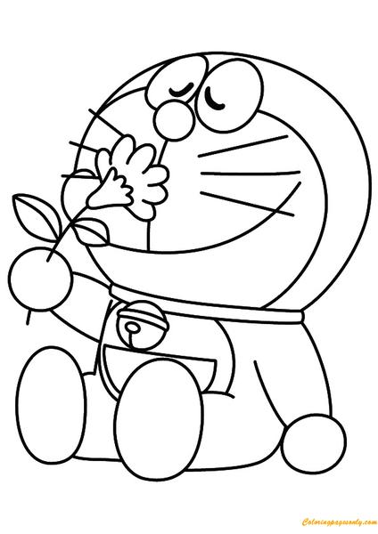 tranh tô màu cho bé doremon