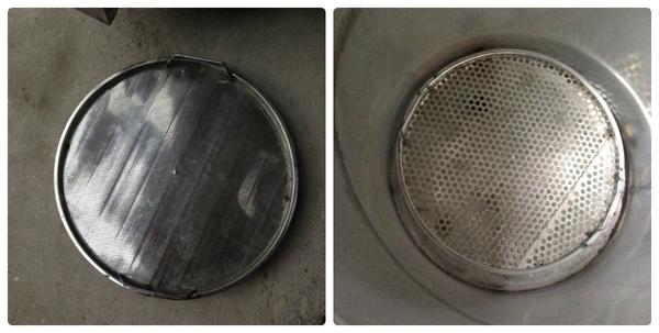 hệ thống vỉ đỡ và sọt lưới phía trong nồi chưng cất tinh dầu