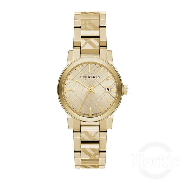Đồng hồ Burberry BU9145 Women's Swiss Gold Ion-Plated Stainless Steel Bracelet 34mm Watch