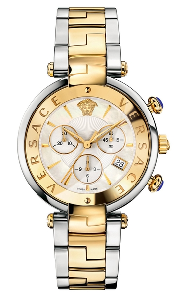 Đồng Hồ VERSACE VAJ050016 REVIVE CHRONOGRAPH TWO TONE STEEL DATE LADIES WATCH