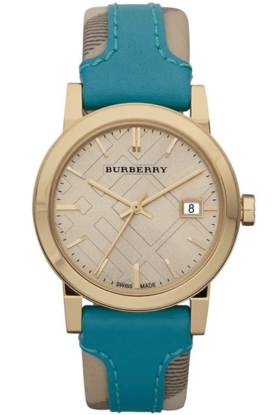 Đồng hồ Burberry BU9112 Gold Engraved Leather Ladies Watch