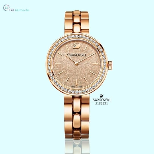 Swarovski Daytime Peach Rose Gold-Tone Ladies Watch