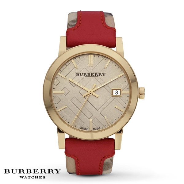 Đồng hồ Burberry BU9017 'Large' Stamped Leather Strap Watch
