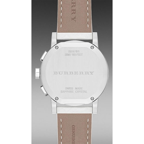 Đồng hồ Burberry women's BU9701 Watch City Ladies White Dial Stainless Steel Case Quartz Movement