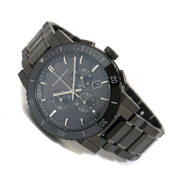 Đồng Hồ Burberry BU9381 Chronograph Gunmetal Dial Grey Ion-plated Stainless Steel Mens Watch
