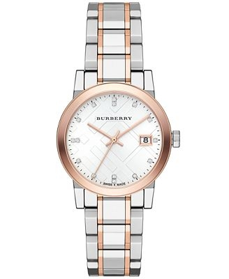 Đồng hồ Burberry BU9205 Watch, Women's Swiss Two Tone Stainless Steel Bracelet 26mm