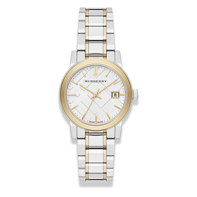 Đồng Hồ Burberry BU9115 Women's Swiss Two-Tone Stainless Steel Bracelet 34mm Watch