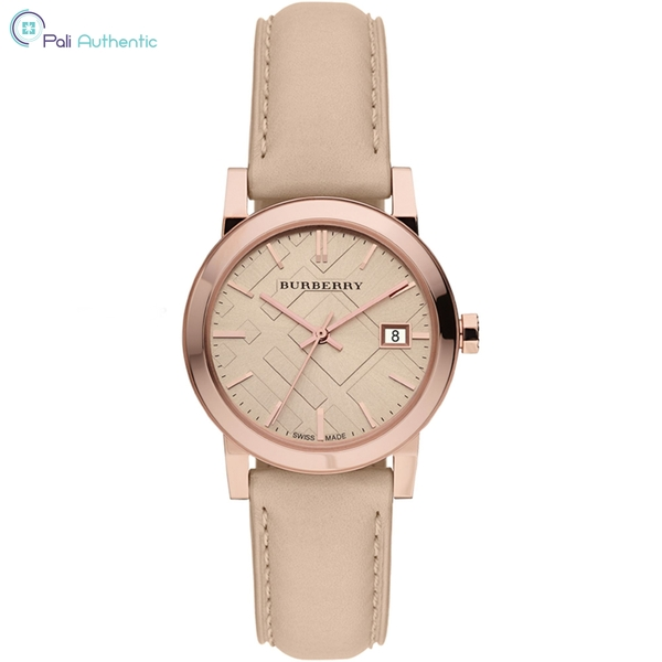 Đồng Hồ Burberry BU9109 Women's Swiss Nude Leather Strap Watch