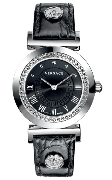 Đồng Hồ VERSACE P5Q99D009 S009 VERSACE VANITY STAINLESS STEEL BLACK LEATHER