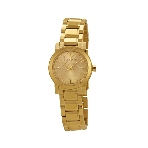 Đồng hồ Burberry BU9227 Unisex Swiss The City Light Gold-Tone Stainless Steel Bracelet Watch 26mm