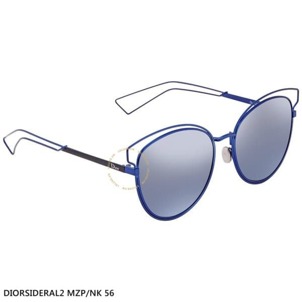 Kính Dior Blue Silver Cat Eye Ladies Sunglasses