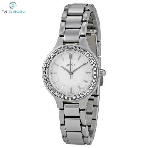Đồng Hồ DKNY NY2220 Chambers White Dial Stainless Steel Ladies Watch