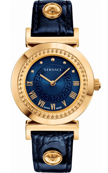 Đồng Hồ VERSACE P5Q80D282 S282 VANITY ANALOG DISPLAY SWISS QUARTZ BLUE LADIES WATCH