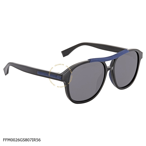 Fendi Angle Grey Geometric Men's Sunglasses FFM0026GS807IR56