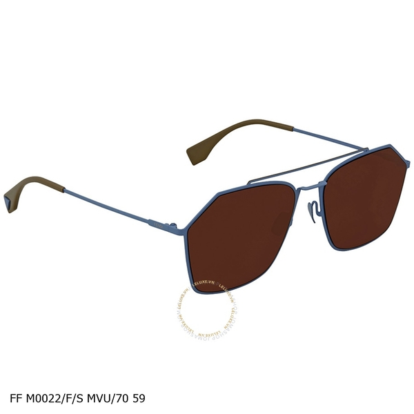 Brown Rectangular Sunglasses FF M0022/F/S MVU/70 59