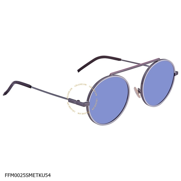 Fendi Everyday Fendi Blue Round Men's Sunglasses FFM0025SMETKU54