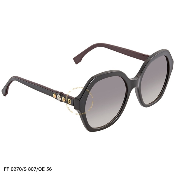 Fendi Fun Fair Silver Grey Shaded Geometric Ladies Sunglasses FF 0270/S 807/OE 56