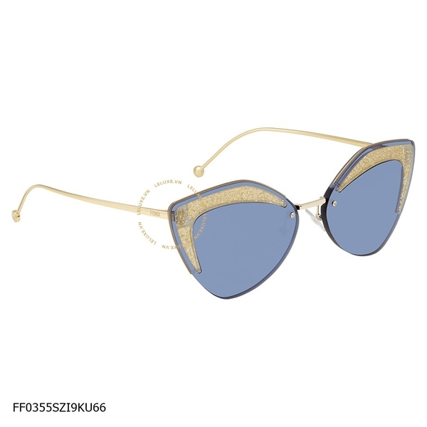 Glass Blue Geometric Ladies Sunglasses