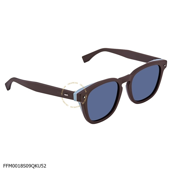 Fendi I See You Blue Square Men's Sunglasses FFM0018S09QKU52